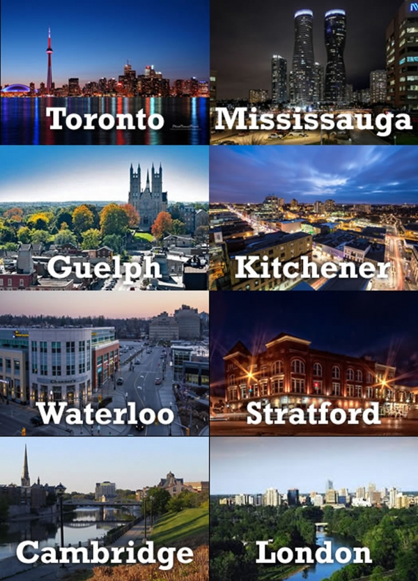 location highlights toronto mississauga london waterloo kitchener stratford guelph